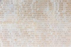死在凡尔登战役的纪念碑美国WW1士兵 库存照片