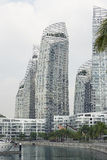 在凯佩尔海湾的反射丹尼尔Libeskind 免版税库存照片