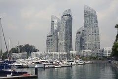 在凯佩尔海湾的反射丹尼尔Libeskind 图库摄影