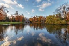 在凯瑟琳公园,普希金, Tsarskoe Selo 免版税库存照片