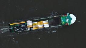 在出口和进口的集装箱船 国际运输货物 影视素材