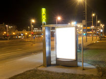 在出租汽车状态的空白广告牌 免版税图库摄影