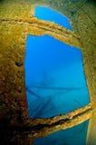 在击毁里面的博内尔岛hilma 免版税库存图片