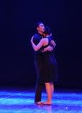 在分开拥抱should've sald前,我爱你现代舞蹈 免版税图库摄影