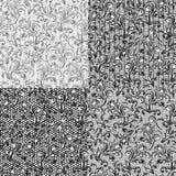 在分开的l的四个传染媒介无缝的花卉样式 图库摄影