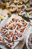 在分支时间的五颜六色的蛋糕 免版税库存照片