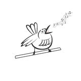 在分支的美丽的唱歌鸟 库存照片