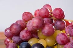 在分类的大有机食用葡萄地球在锡服务 图库摄影