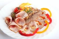 在分类的肉卷 免版税图库摄影
