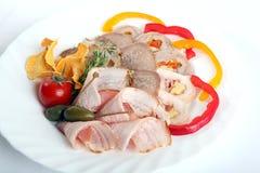 在分类的肉卷 免版税库存照片