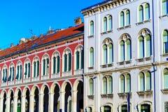 在分裂的老部分的Arcitecture在克罗地亚 免版税图库摄影