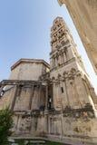 在分裂的钟楼,克罗地亚 免版税图库摄影