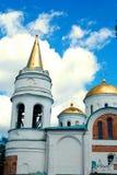 在切尔尼戈夫乌克兰的白色东正教大厦 免版税库存图片