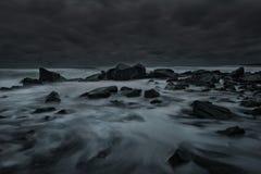 在切尔诺莫雷茨的风雨如磐的晚上,保加利亚 库存图片