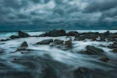 在切尔诺莫雷茨的风雨如磐的晚上,保加利亚 库存照片