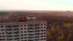在切尔诺贝利NPP附近的鬼城Pripyat,乌克兰 影视素材