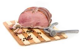 在切板的猪肉。 免版税库存图片