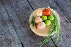 在切板的蔬菜 免版税图库摄影