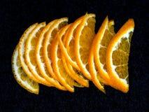 在切片切开的一棵柑桔 免版税图库摄影