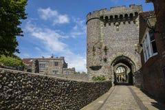 在刘易斯城堡的外堡门 免版税库存照片
