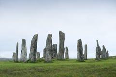 在刘易斯小岛的Callanish石头  苏格兰 免版税库存图片