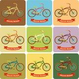 在创造性的背景的自行车 库存图片