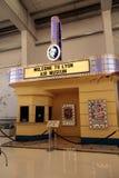 在利昂空气博物馆的电影院显示 库存图片