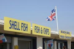 在利特尔汉普顿的快餐出口 英国 库存图片