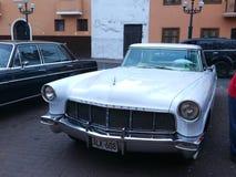 在利马陈列的林肯大陆标记II小轿车 图库摄影
