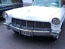 在利马陈列的林肯大陆标记II小轿车 免版税图库摄影