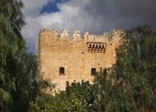 在利马索尔附近的Kolossi城堡 塞浦路斯 库存照片
