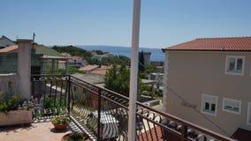 在别墅在分裂,克罗地亚的大阳台 影视素材