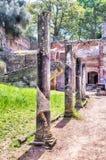 在别墅艾德里安娜(Hadrian的别墅), Tivoli,意大利的废墟 免版税库存照片