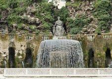 在别墅d ` Este的卵形喷泉 免版税库存照片