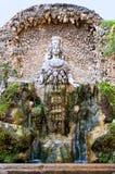 在别墅D-este的Fontana della Natura在Tivoli -罗马 免版税库存图片