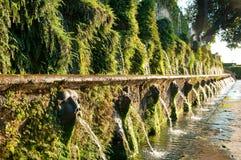 在别墅d'este的Le cento fontane在Tivoli -罗马 免版税图库摄影