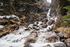 在别拉亚河的瀑布 免版税库存照片