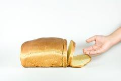 在到达上添面包 免版税库存照片