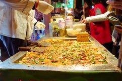 在制造的辣豆腐 免版税图库摄影