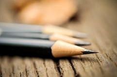 在削片以后的铅笔 免版税库存照片