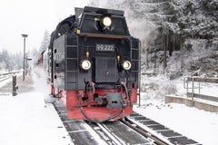 在前景布罗肯峰铁路 33c 1月横向俄国温度ural冬天 库存照片