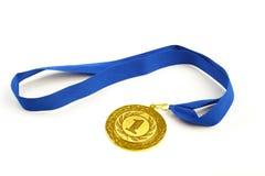 在前景的金牌在最高荣誉 库存图片
