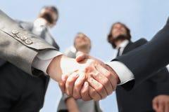 在前景 背景查出的企业信号交换成为白色的伙伴 库存图片