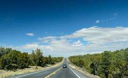 在前面路的汽车 免版税图库摄影