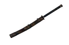 在剑鞘的日本剑 免版税库存照片