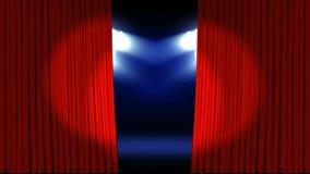 在剧院阶段的聚光灯 库存例证