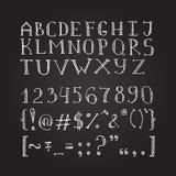 在剪影样式的传染媒介手拉的乱画字体 库存图片