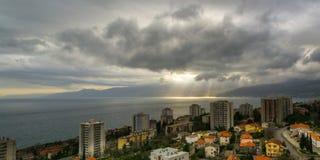 在力耶卡的云彩 图库摄影