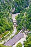 在力耶卡鸟瞰图附近的Rjecina河床 免版税库存图片