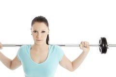 在训练期间的妇女 免版税库存照片